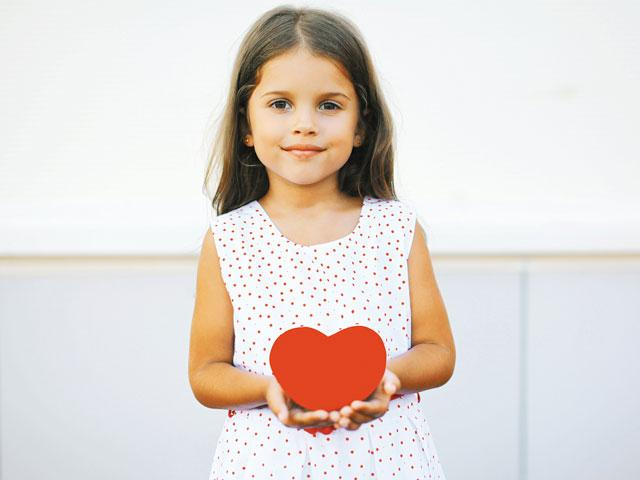 Little girl with Valentine
