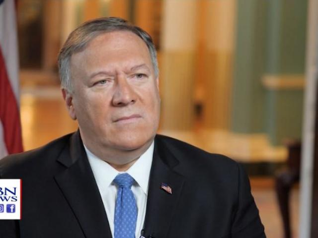 Secretary of State Mike Pompeo. (Image credit: CBN News)