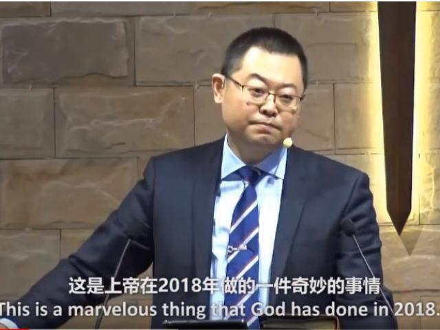 Pastor Wang Yi.  Screenshot courtesy: Early Rain Church/YouTube