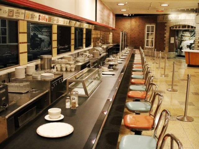 The F.W. Woolworth's lunch counter at the International Civil Rights Center & Museum in Greensboro, N.C. AP Photo.