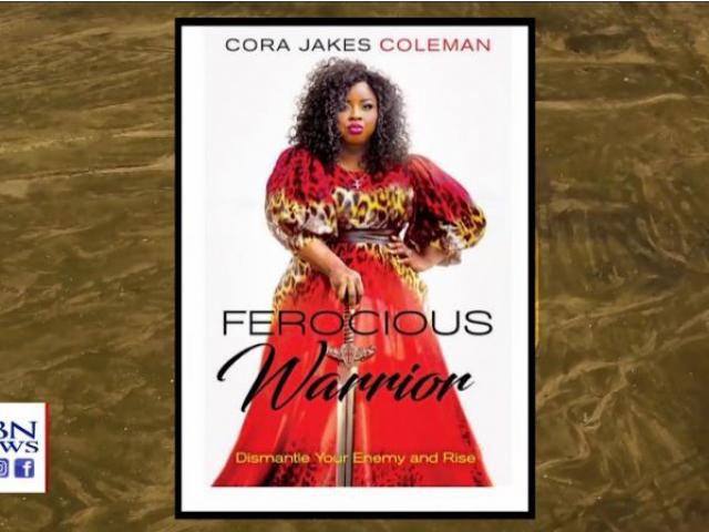 """Cora Jakes Coleman's latest book is titled """"Ferocious Warrior: Dismantle Your Enemy and Rise."""" (Image credit: CBN News)"""