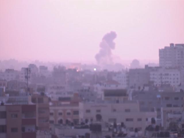 AP: Pillar of smoke in Gaza after Israeli airstrike