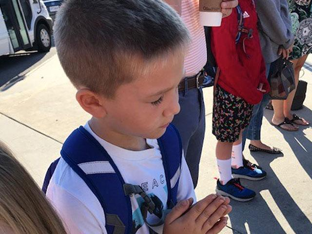 Ezra, age 6, from Winterpock Elementary School in Chesterfield, VA. (Photo Credit: Layna Comeforo)