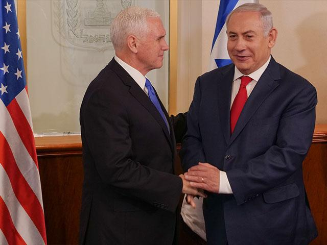 VP Pence meets with Israeli PM Benjamin Netanyahu in Jerusalem.