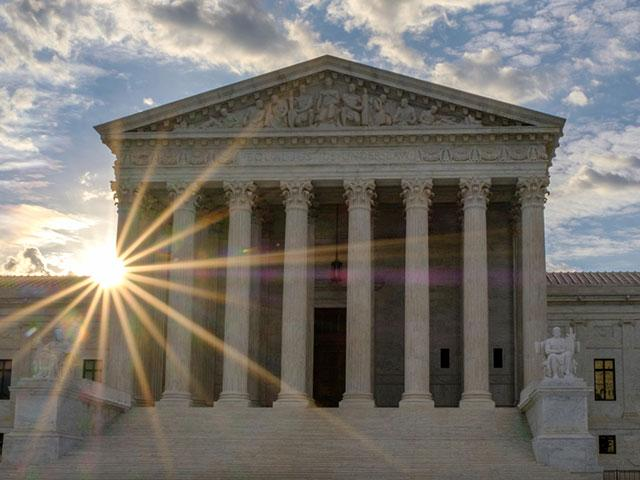 Supreme Court of the United States at Sunset