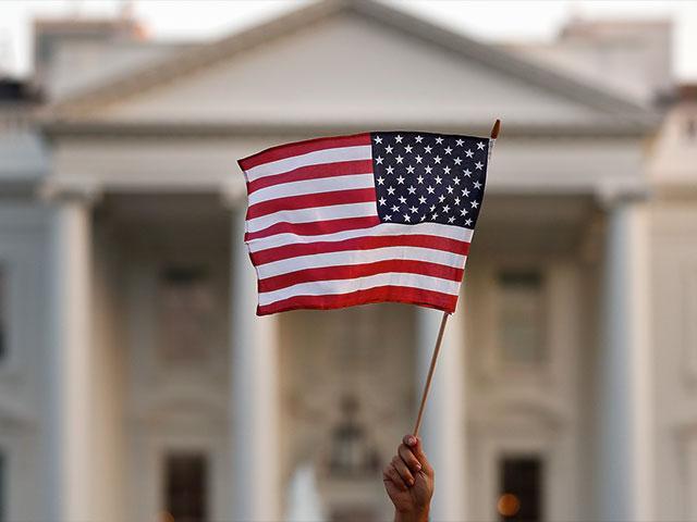 US Flag White House AP