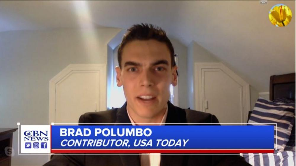 Brad Polumbo, a USA Today contributor, is the editor of the website Young Voices. (Image credit: CBN News)
