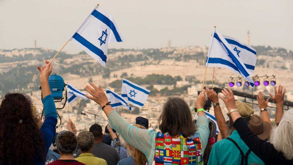 Christians at Annual Pray for the Peace of Jerusalem event, Photo, CBN News, Jonathan Goff