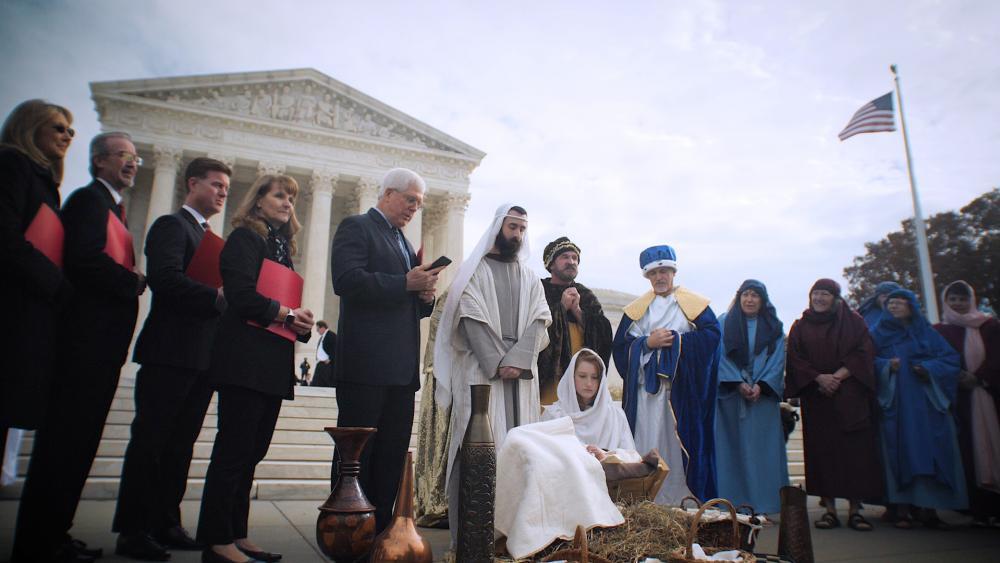 Live nativity near the Supreme Court and Capitol Hill (Photo: Mark Bautista/CBN News)