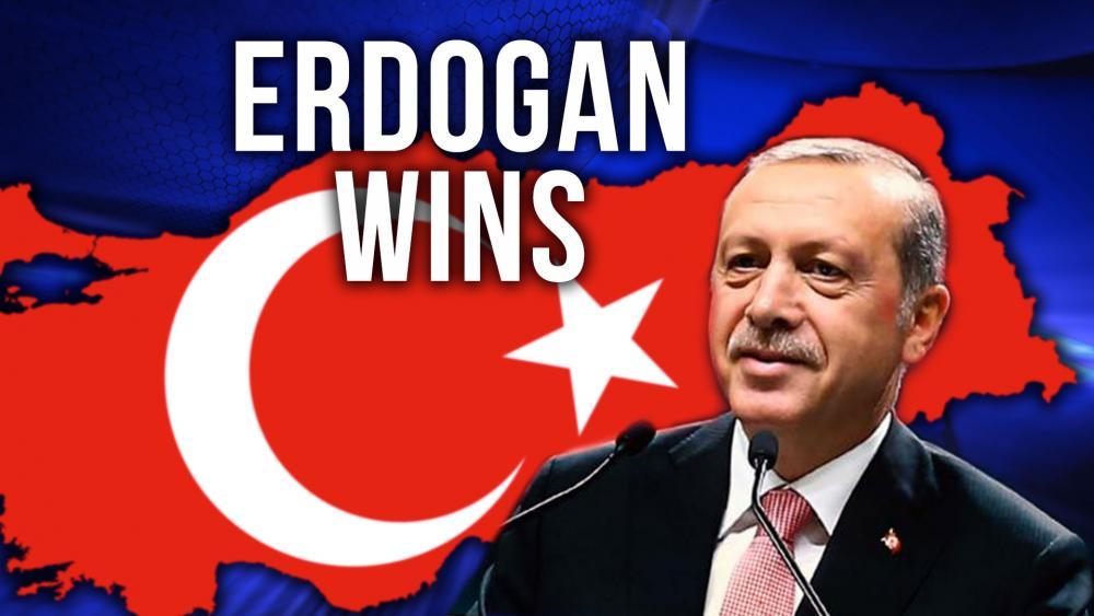 Turkish President Recep Tayyip Erdogan Declared Winner, Screen Capture