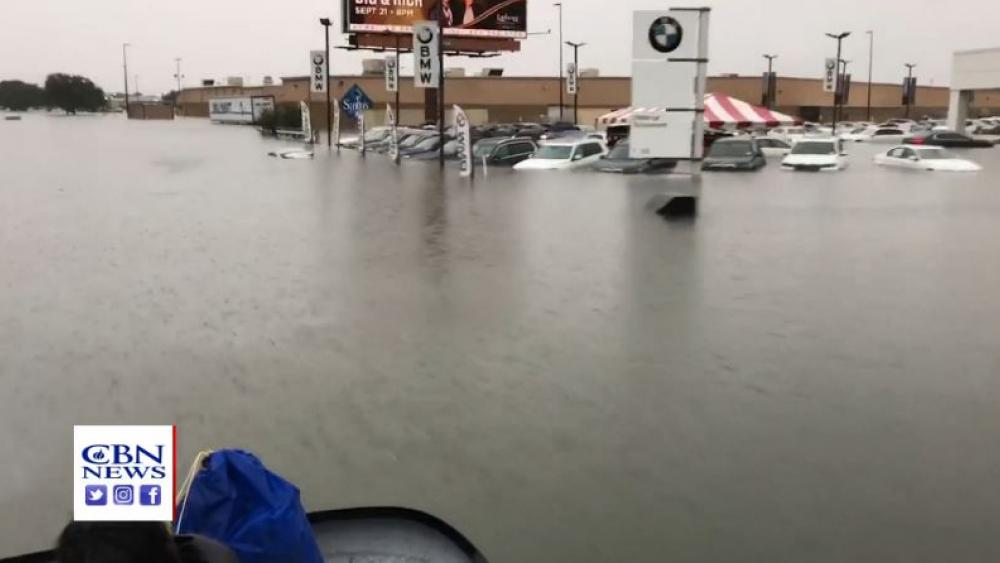 Screenshot of flooding in Beaumont, Texas on Sept. 19, 2019. (Image credit: Kenny Vaughn)