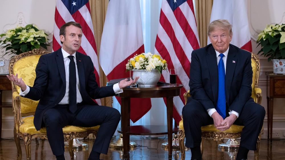 President Trump clashed with French President Macron at the NATO Summit in London (AP Photo)